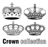 Crown, vector  hand drawn vector Royalty Free Stock Photo