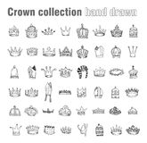 Crown, vector  hand drawn vector Stock Photography
