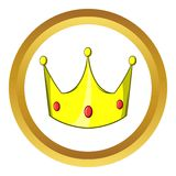 Crown vector icon, cartoon style Stock Photo