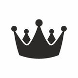 Crown. Vector icon isolated on white background royalty free illustration