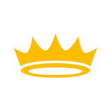 Crown vector icon Royalty Free Stock Photo
