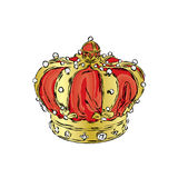 Crown. Vector illustration. Print for clothes, cards or posters. Royalty Free Stock Images