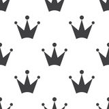 Crown, vector seamless pattern Royalty Free Stock Photos