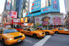 Crown Victoria Taxicabs in Times Square Stock Photo