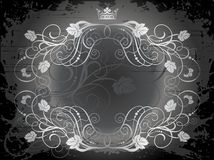 Crown and vines illustration Stock Images