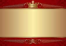 Crown. Vintage background with crown - vector illustration Royalty Free Stock Image