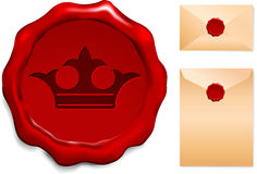 Crown Wax Seal Royalty Free Stock Image