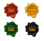 Crown Wax Seal Set. Illustration of Crown Wax Seal Set Royalty Free Illustration
