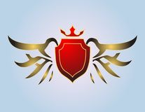 Crown, wing and armour Royalty Free Stock Images