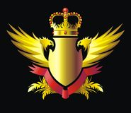 Crown and wings Stock Photography