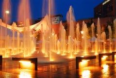 Crowne广场喷泉 库存图片