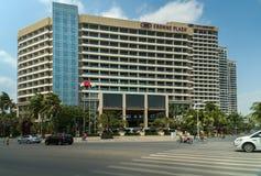 Crowne广场饭店在三亚市 免版税库存图片