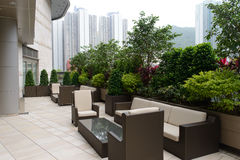 Crowne Plaza hotel. HONG KONG - APRIL 22, 2014: Crowne Plaza Hotel outdoor area in Hong Kong, China on 22 April 2014. Crowne Plaza is a chain of luxury hotels Royalty Free Stock Photos