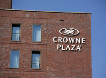 Crowne plaza letters on a wall in Amsterdam Stock Photography