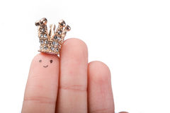Crowned finger tip Royalty Free Stock Photography