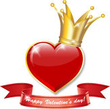Crowned heart Stock Image