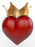Crowned heart Royalty Free Stock Photos