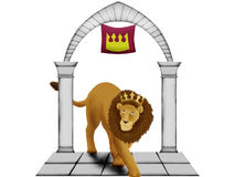 Crowned lion Stock Photos