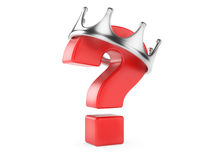 Crowned question. Problem. Royalty Free Stock Photos