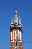 Crowned Tower of St Mary Church Stock Photography