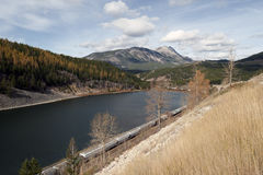 Crownest Pass by BC-Alberta boundary Stock Photography