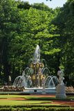 The Crowning Fountain at the Summer Garden. In Saint Petersburg, Russia stock images