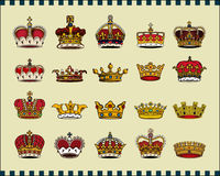 Crowns. Isolated on light background. Additional  format Illustrator 8 eps Royalty Free Stock Photography
