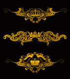Crowns. Set of Design Elements Royalty Free Stock Photo
