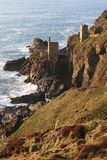 The Crowns. 'The Crowns' tin mining engine house relic, Botallack, St Just, Cornwall. Photographed in late evening sunshine Stock Images