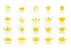 Crowns. Vector illustration on wite background Stock Photo
