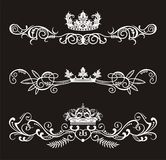Crowns. Vector for label element with text or else Stock Photo