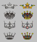 Crowns. Vector for label element with text or else Royalty Free Stock Photos