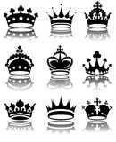 Crowns. Vector illustration of different crowns royalty free illustration