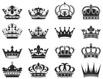 Crowns. 12 Crowns are available for your designs Stock Image