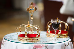 Crowns in the church Stock Images