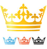 Crowns collection Royalty Free Stock Photography