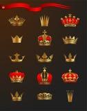 crowns guld- Royaltyfria Bilder