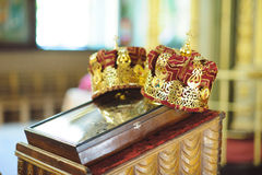 Crowns on Icon Royalty Free Stock Photo