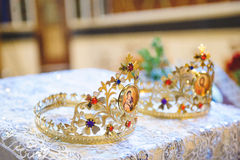 Crowns with Icons Stock Photos