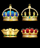 Crowns. Illustration of several ornate royal crowns Stock Photos