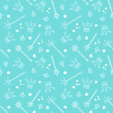Crowns and Magic Wands Pattern Stock Images