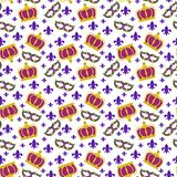 Mardi Gras Seamless Pattern royalty free stock photo