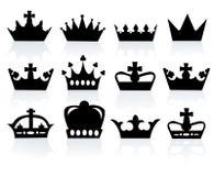 crowns olikt Royaltyfria Foton