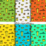 Crowns patterns, background Royalty Free Stock Image