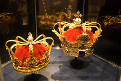Crowns. Rosenborg. Copenhagen Royalty Free Stock Photos