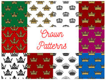 Crowns seamless patterns Stock Photo
