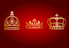 Crowns set Royalty Free Stock Photos