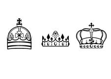 Crowns set Royalty Free Stock Photography