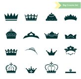 The crowns set Royalty Free Stock Photography