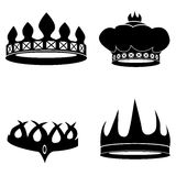 Crowns Set Royalty Free Stock Images